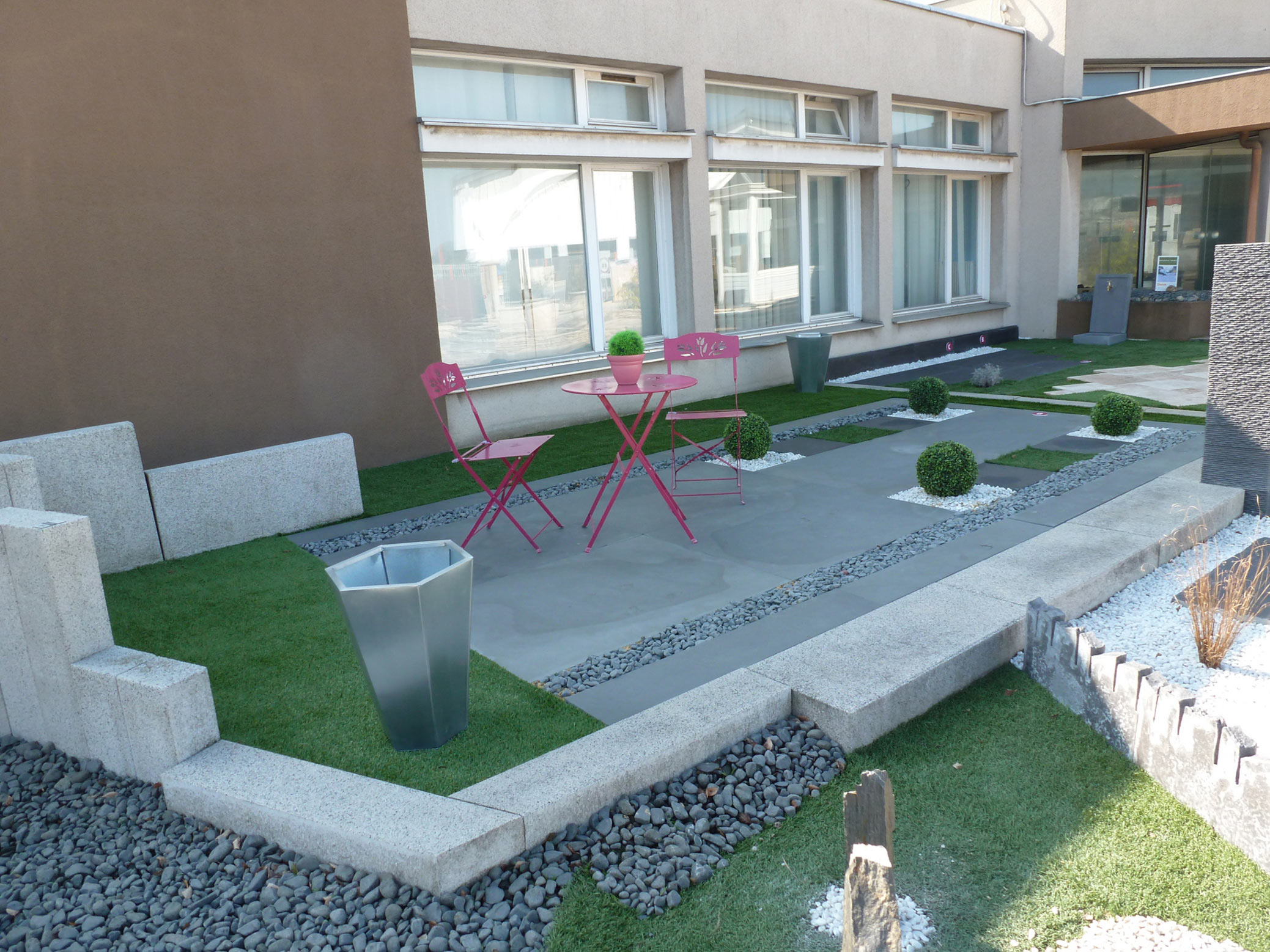 Aménagement Extérieur Entrée Maison aménagement de terrasses et jardins, création - kalistâ, le